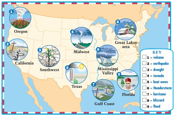 Maps for books . Blizzard clipart weather map
