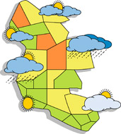 Free clip art pictures. Blizzard clipart weather map