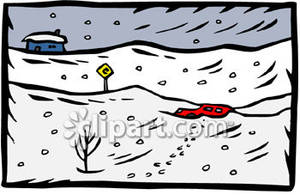 Blizzard clipart winter storm. Car buried in the