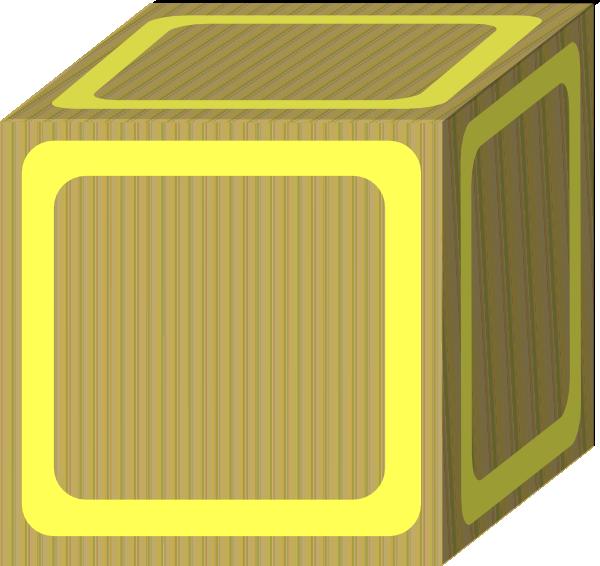 Plain yellow clip art. Blocks clipart blank block