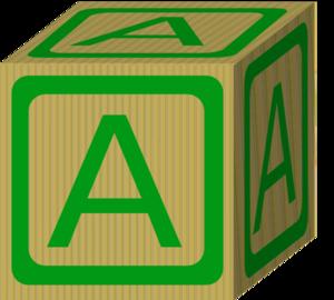 Alphabet a clip art. Block clipart