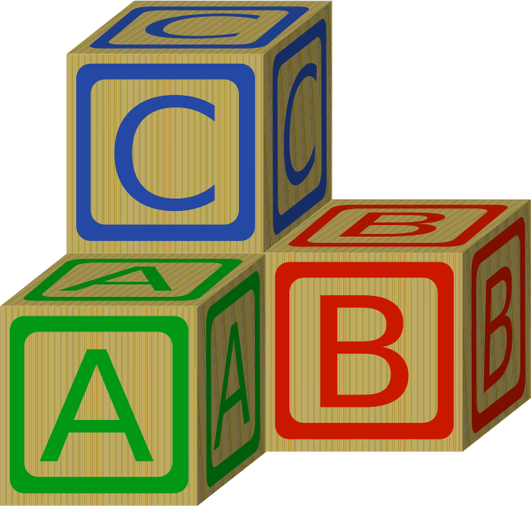Block clipart. Abc blocks clip art
