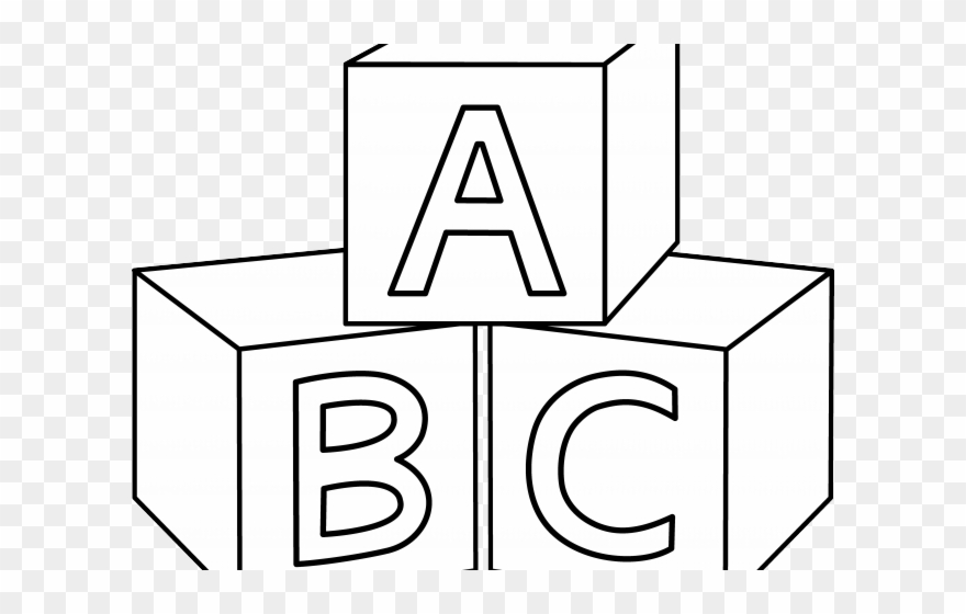 Block clipart abc. Blocks coloring pictures of