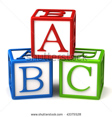 Block clipart abc. Blocks black and white