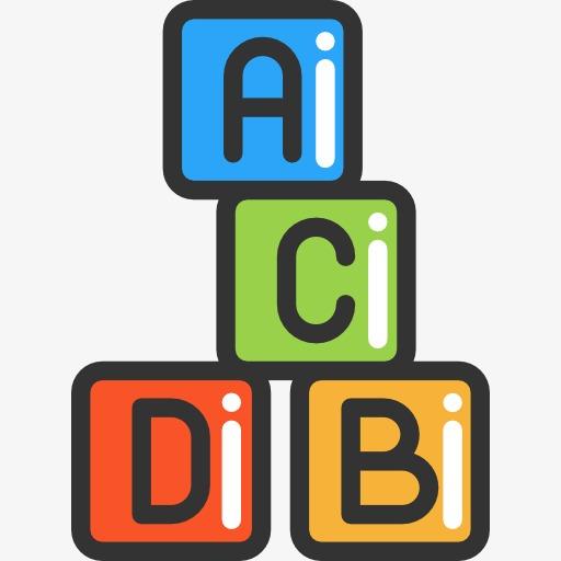 Block clipart abcd. Alphabet blocks building cartoon