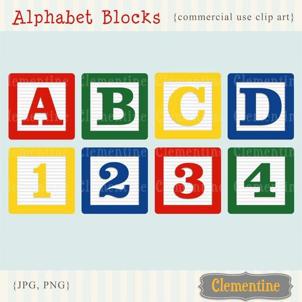 Block clipart abcd. Alphabet blocks clip art