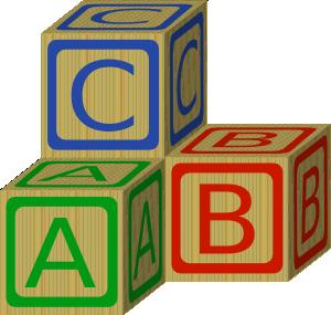 Abc blocks clip art. Block clipart abcd