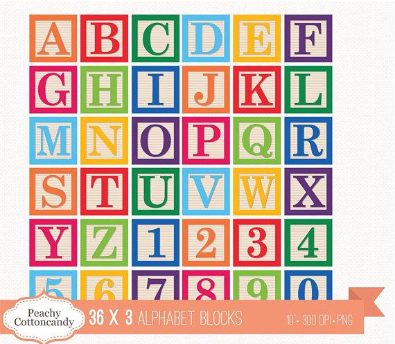 block clipart alphabet