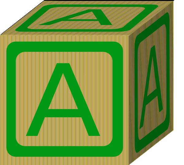 Block clipart alphabet. A clip art at