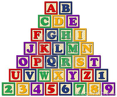 Block clipart alphabet. Blocks free