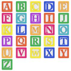 Baby blocks font clip. Block clipart alphabet