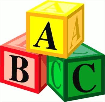 Block clipart alphabet. Blocks