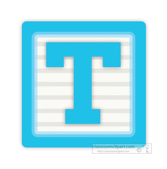 Block clipart alphabet. Alphabets letter t classroom