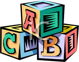 Block clipart alphabet. A stack of blocks