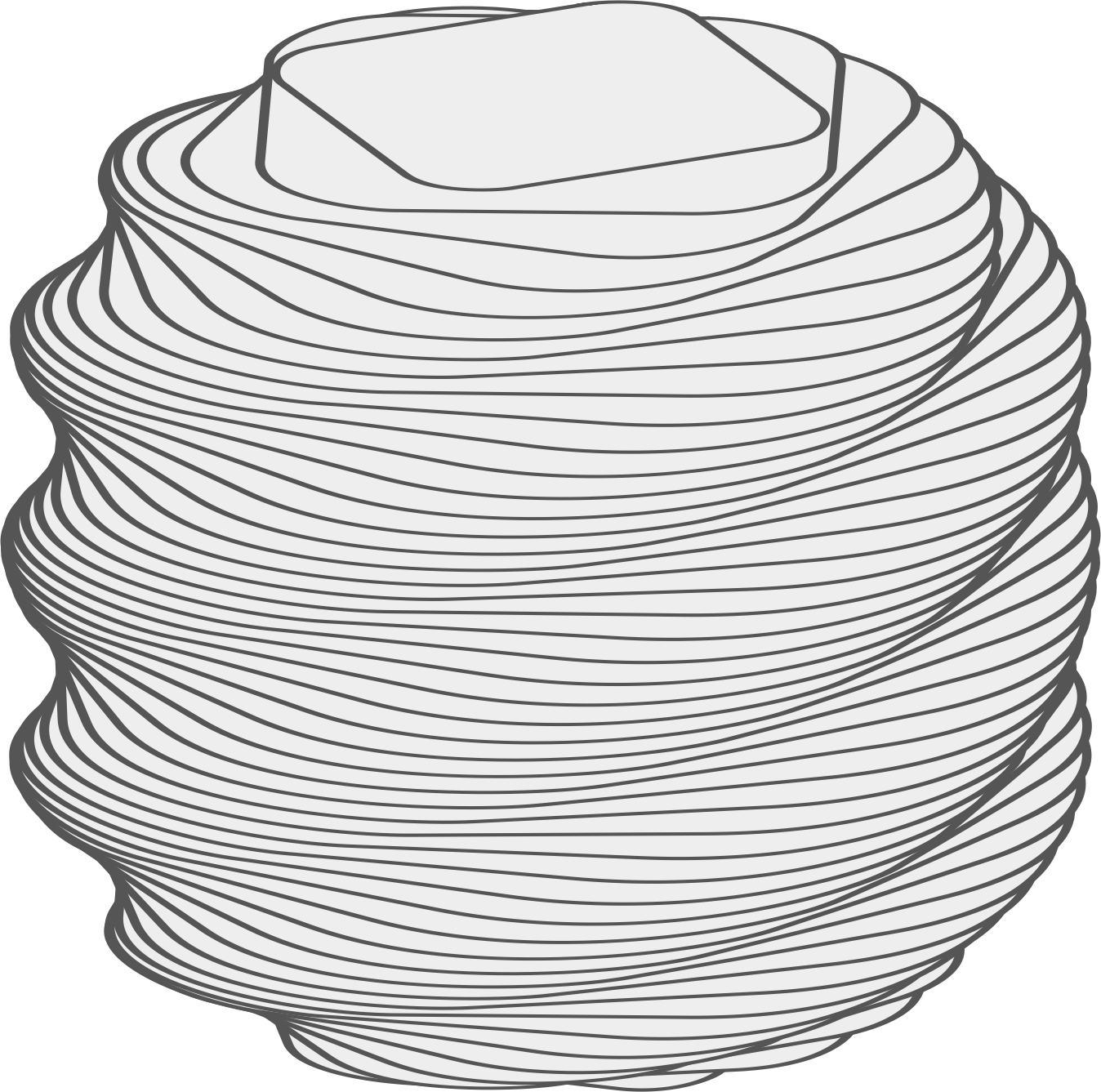 Twisted rounded big image. Block clipart animated