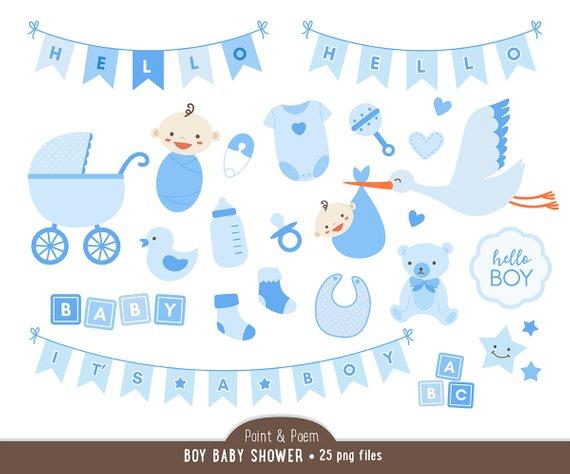 Clip art shower blue. Block clipart baby boy