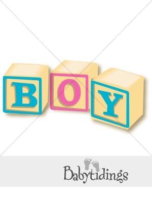 Block clipart baby boy. Blocks