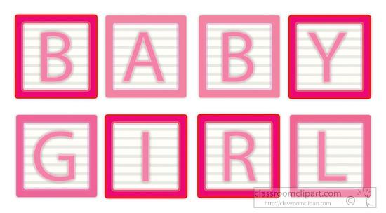 Blocks clipart baby girl. Word letter classroom babygirlwordletterblocksclipartjpg