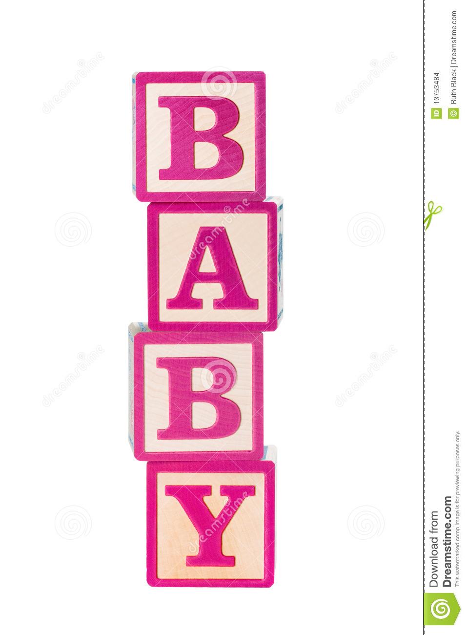 Building clip art net. Blocks clipart baby girl