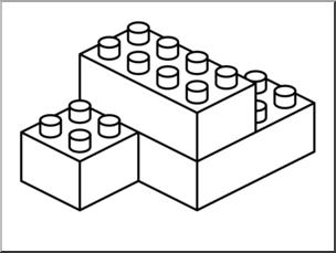Clip art building b. Blocks clipart black and white
