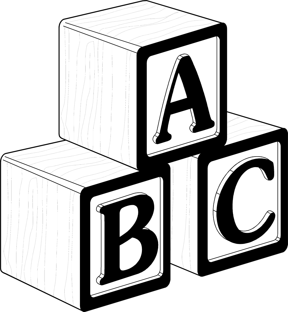 Legos clipart blok. Black and white blocks