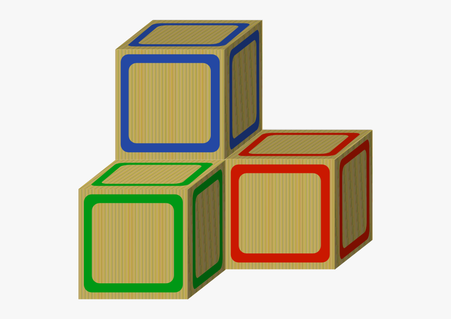 Tri baby plain blocks. Block clipart blank block