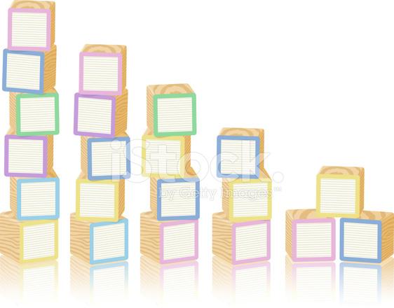 Wooden toy alphabet blocks. Block clipart blank block