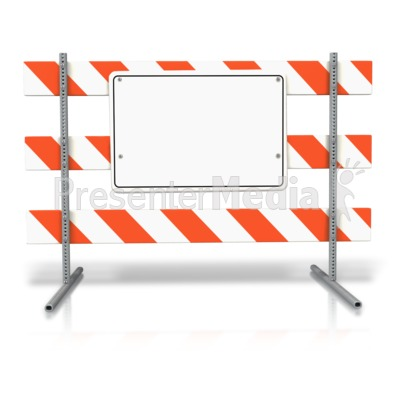 Stand up road sign. Block clipart blank block