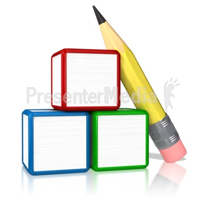 Block clipart blank block. Three stack presentation great
