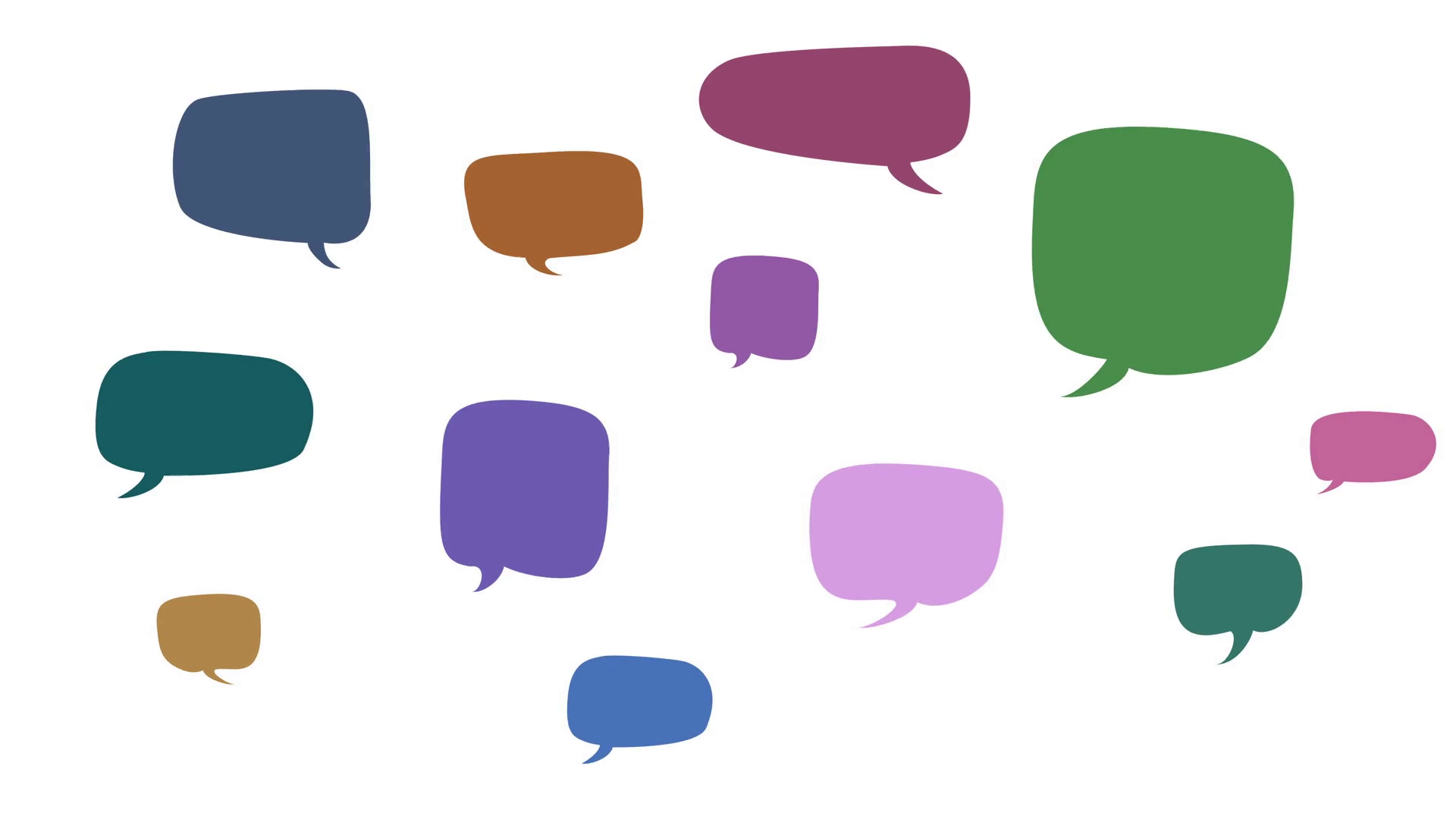 Block clipart blank block. Animated speech bubbles on