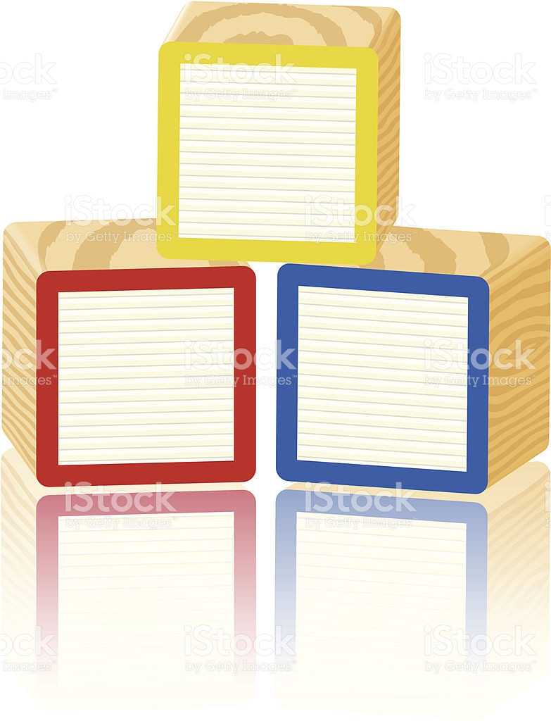 Cube pencil and in. Block clipart blank block
