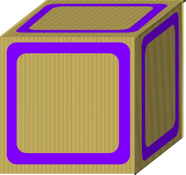 Plain purple clip art. Block clipart blank block