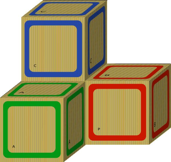Blocks clipart blank block. Wooden clip art at