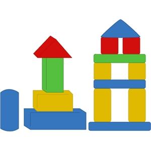 Block clipart building block. Silhouette design store view