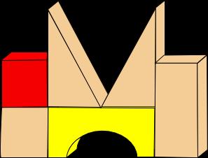 Block clipart cartoon. Clip art letters panda