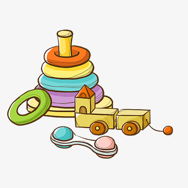 Toy building blocks circle. Block clipart cartoon