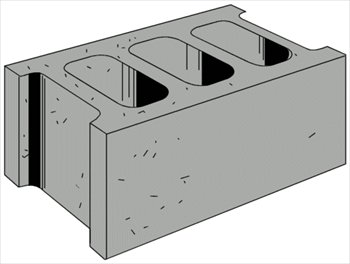 Blocks clipart hollow block. Free concrete graphics images