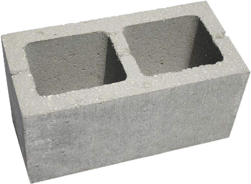 Block clipart cinder block. Concrete with holes masonry
