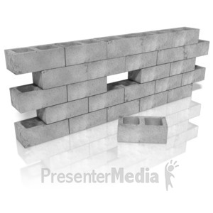 Stick figure trip blocks. Block clipart cinder block