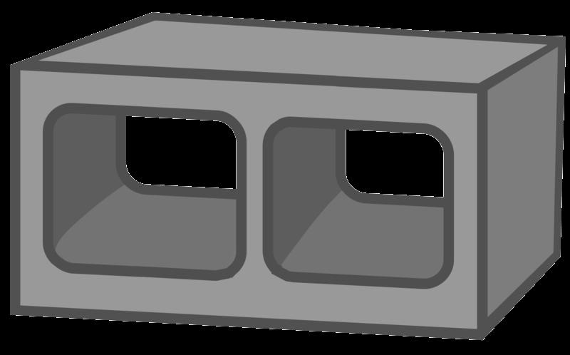 Block clipart cinder block. File cinderblock png homestar