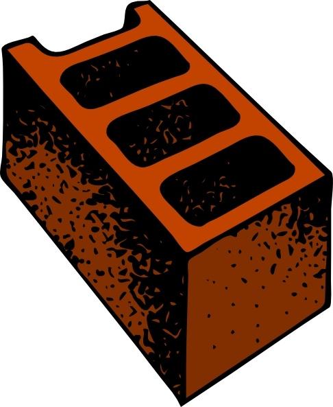 Clip art free vector. Block clipart cinder block