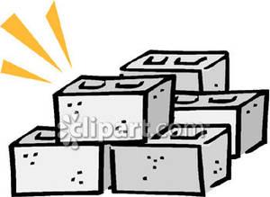 A stack of blocks. Block clipart cinder block