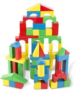 Blocks clipart wooden block. Amazon com kids building