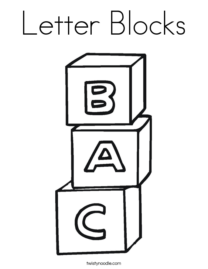 Blocks clipart colouring page. Coloring pages incep imagine