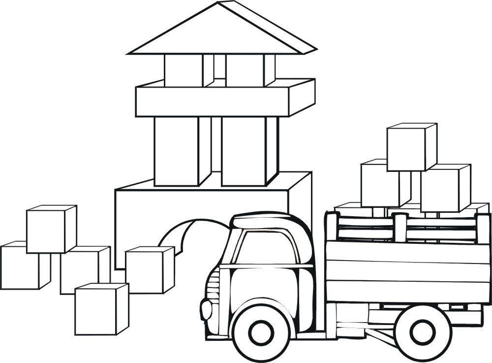 Blocks Coloring Pages - Free Transparent PNG Clipart Images Download | 737x1000