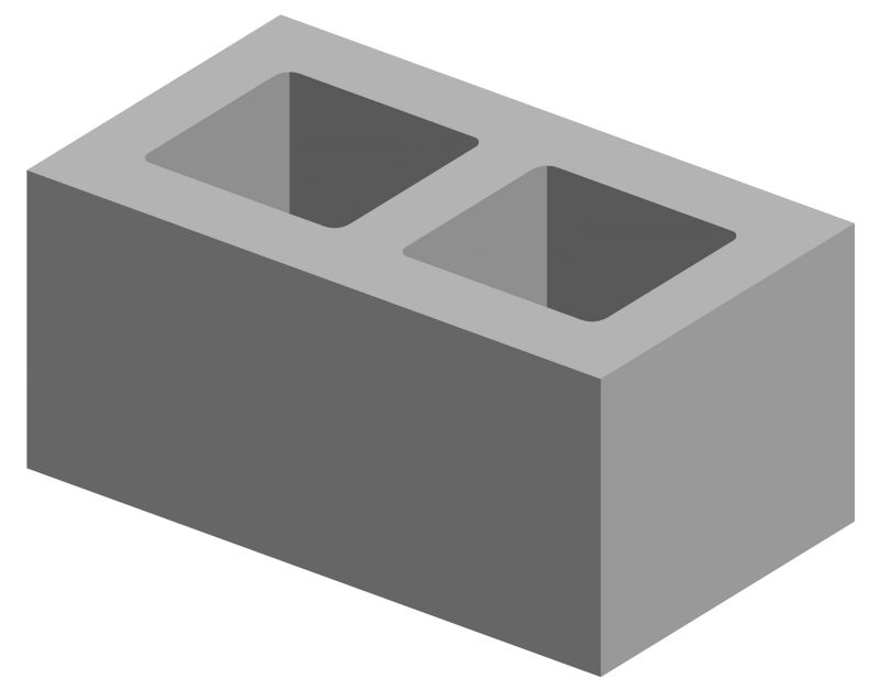 Block clipart construction block. Hollow blocks station