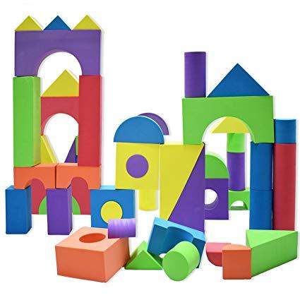Giant foam building blocks. Block clipart construction block