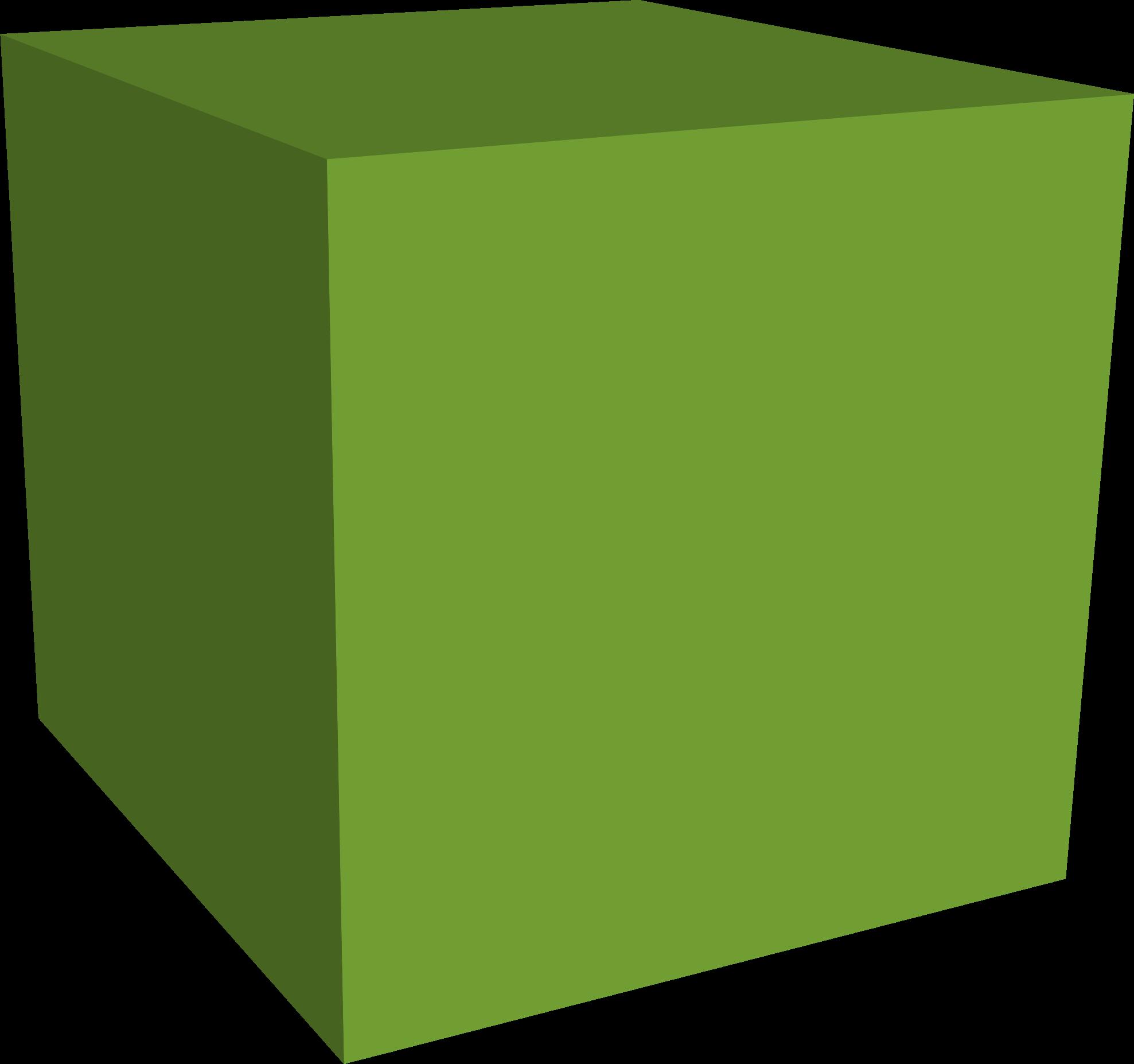 Block clipart cube. Green big image png