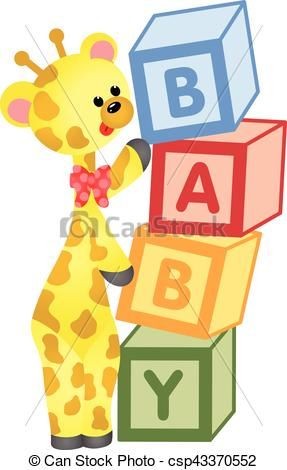 block clipart cute
