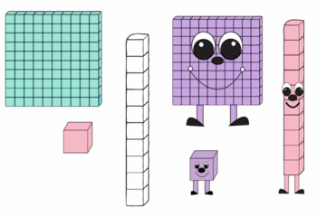 Place value people and. Blocks clipart cute